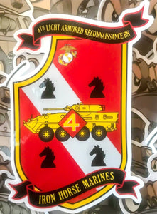 "4TH LAR BN 4"" STICKER"