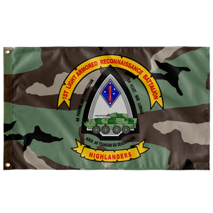 1ST LAR BN CURRENT 3 COLOR WOODLAND FLAG