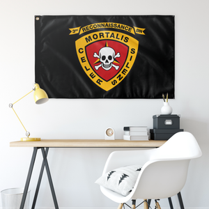 3RD RECON BN BLACK 3' X 5' INDOOR FLAG