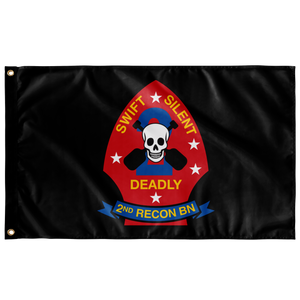 2ND RECON BN BLACK 3' X 5' INDOOR FLAG