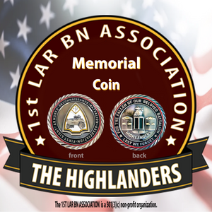 1ST LAR BN ASSOCIATION NUMBERED MEMORIAL COIN (400-500)