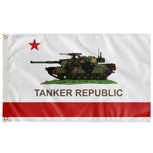 TANKER REPUBLIC DOUBLE-SIDED 3' X 5' INDOOR OUTDOOR FLAG
