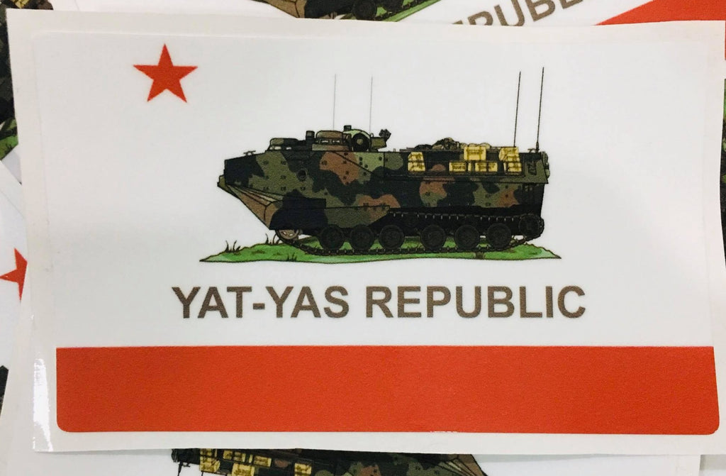 "YAT-YAS REPUBLIC 10 PACK 4"" VINYL STICKERS"