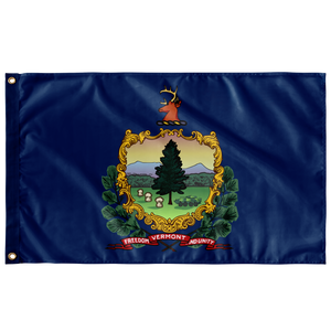 STATE of VERMONT LARSOC 3' X 5' SINGLE-SIDED INDOOR FLAG