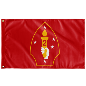 2ND MARINE DIVISION RED 3' X 5' INDOOR FLAG