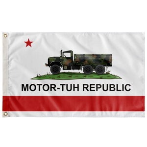 MOTOR-TUH REPUBLIC 3' X 5' INDOOR FLAG