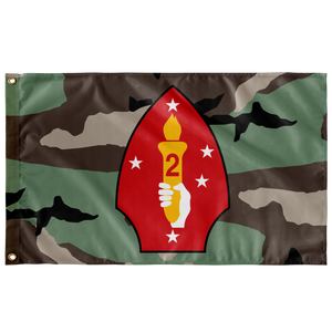 2ND MARINE DIVISION 3 COLOR WOODLAND 3' X 5' INDOOR FLAG