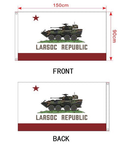 LARSOC REPUBLIC 3' X 5'  DOUBLE SIDED  INDOOR/OUTDOOR FLAG