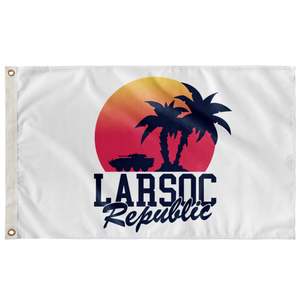 SUNSET PALM LAV-25 3' X 5' INDOOR FLAG
