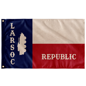 STATE of TEXAS LARSOC 3' X 5' INDOOR FLAG