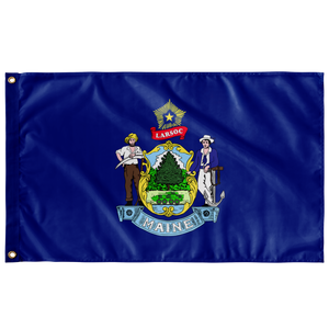 GREAT SEAL of MAINE LARSOC 3' X 5' SINGLE SIDED INDOOR FLAG