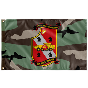 4TH LAR BN 3 COLOR WOODLAND 3' X 5' INDOOR FLAG