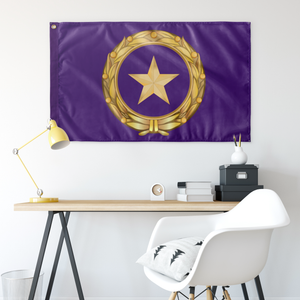 GOLD STAR FAMILY CREST PURPLE 3' X 5' INDOOR FLAG
