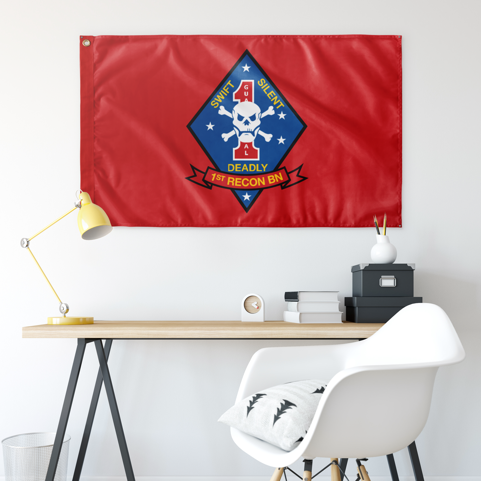 2ND RECON BN RED 3' X 5' INDOOR FLAG