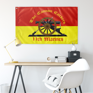 11TH MARINE REGIMENT 3' X 5' INDOOR FLAG