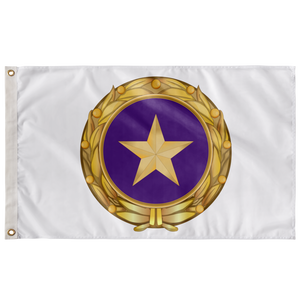 GOLD STAR FAMILY CREST WHITE 3' X 5' INDOOR FLAG