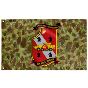 4TH LAR BN FROGSKIN 3' X 5' INDOOR FLAG
