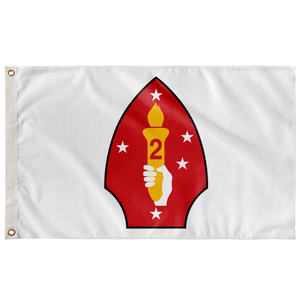 2ND MARINE DIVISION WHITE 3' X 5' INDOOR FLAG