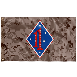 1ST MARINE REGIMENT MARPAT 3' X 5' INDOOR FLAG