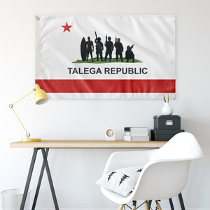TALEGA REPUBLIC WHITE 3' X 5' INDOOR FLAG