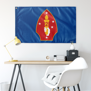 2ND MARINE DIVISION BLUE 3' X 5' INDOOR FLAG