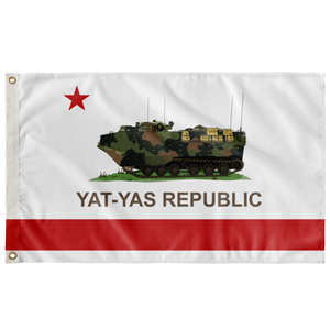 YAT-YAS REPUBLIC SINGLE SIDED 3' X 5' INDOOR FLAG