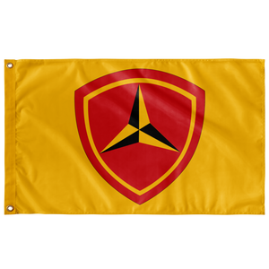 3RD MARINE DIVISION 3' X 5' INDOOR FLAG