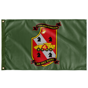 4TH LAR BN GREEN 3' X 5' INDOOR FLAG