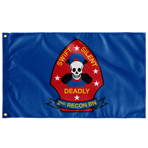 2ND RECON BN BLUE 3' X 5' INDOOR FLAG