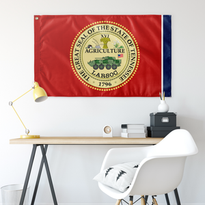 GREAT SEAL of TENNESSEE LARSOC SINGLE SIDED 3' X 5' INDOOR FLAG