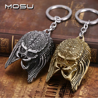 Alien Mask Metal Key Rings