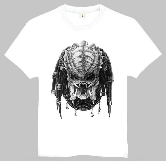 AVP Alien vs Predator White T-Shirt