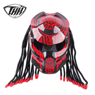 Colourful Predator Carbon Fiber Motorcycle Helmet Full Face Biker Helmet DOT Safety Certification