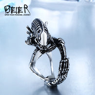 3D Alien Predator Finger Gold/black Rings For Men Gothic Style
