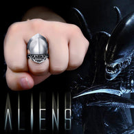Stainless Steel Alien Vs Predator Ring