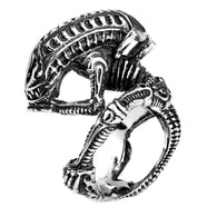 Stainless Steel Alien Predator Finger Rings For Men Gothic Style Biker Jewelry