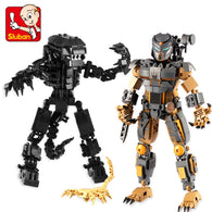 Aliens Vs Predator Mechanical Model Building Blocks Bricks for Children