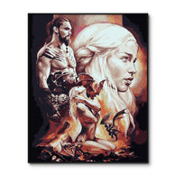 Game of Thrones Hand Painted Wall Poster