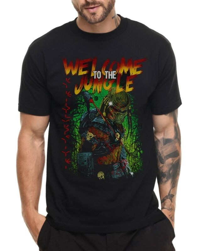 Welcome To The Jungle Predator Sci Fi Alien Kids T Shirt