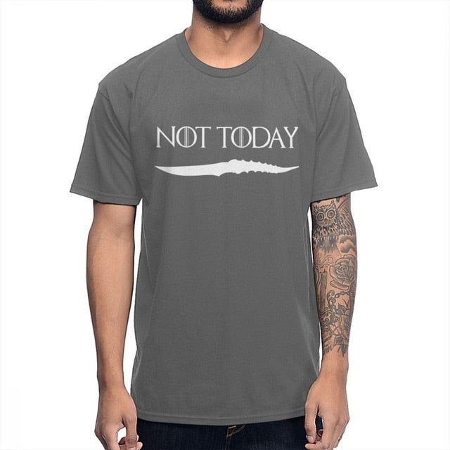 NOT TODAY ARYA STARK GAME OF THRONES T Shirt Faceless Men the House of Black and White Novelty Design T-shirt