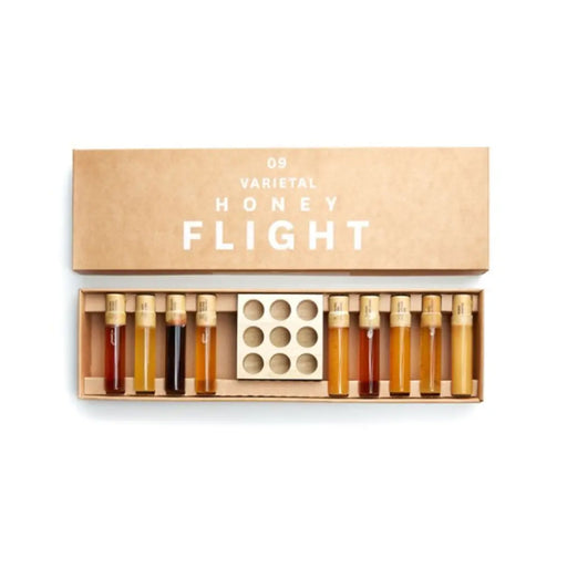 Honey Flight (9 Varietal) - Bee Raw - Sixth Wave