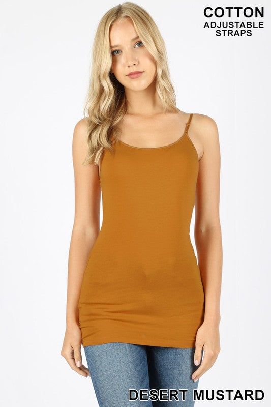 Longline Cami With Adjustable Straps