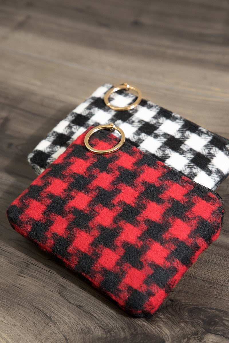 Houndstooth Coin Purse