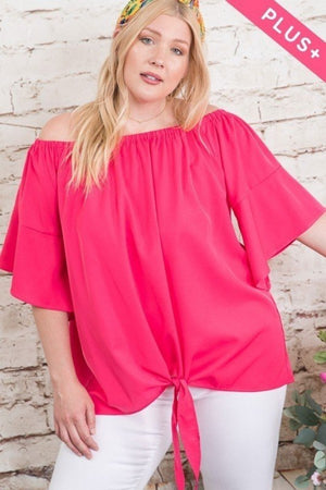 Curvy Off Shoulder Fashion Top