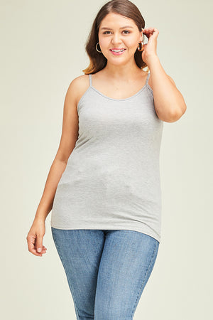 Curvy Long Line Knit Cami's