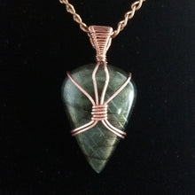 Load image into Gallery viewer, Copper and Labradorite Pendant