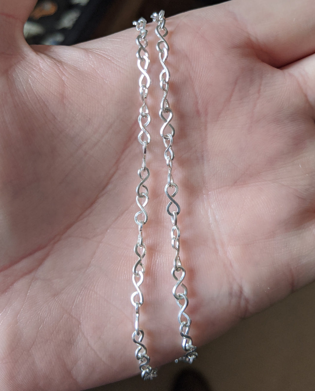 Sterling silver Chain 21 gauge square wire 26 inches long necklace robert allen jewelry