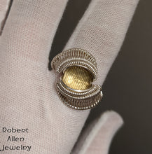 Load image into Gallery viewer, Silver and Rose Cut Citrine Ring, Size 10-3/4 robert allen jewelry sterling handmade art