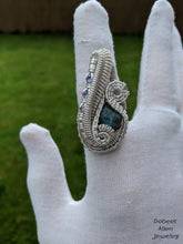 Load image into Gallery viewer, sterling silver blue flash labradorite tanzanite ring robert allen jewelry
