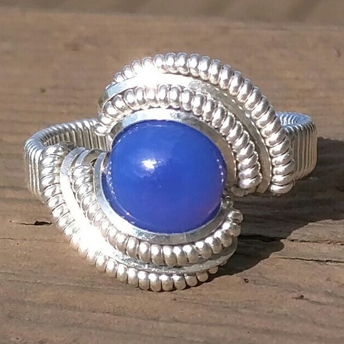 Sterling Silver and Blue Chalcedony Ring